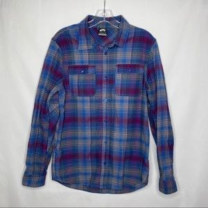 Nike Skateboarding Long Sleeve Button Up Flannel